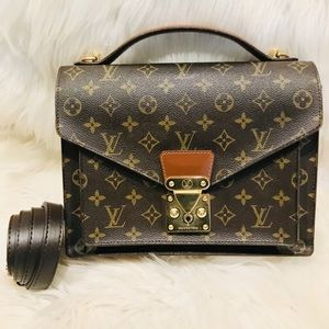 Authentic Louis Vuitton Monceau 7.5z